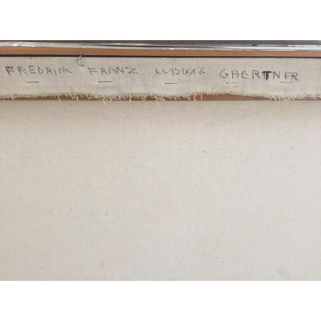 1971 Hard Edge Abstract Fredrick Gaertner - Image 9 of 10