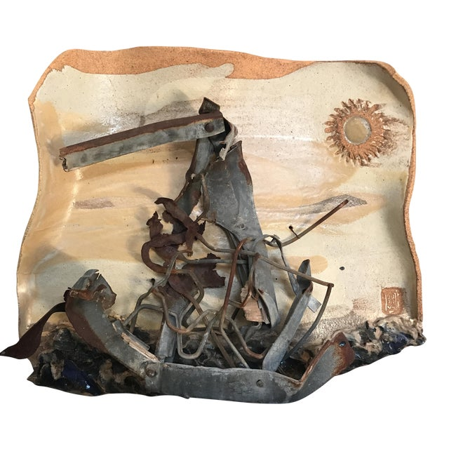 Mid-Century Mixed Media Abstract Sailing Sculpture - Image 1 of 9