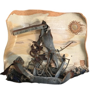 Mid-Century Mixed Media Abstract Sailing Sculpture