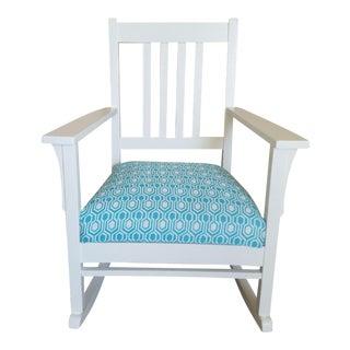 Vintage Mission White Oak Rocking Chair