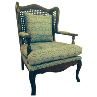 "Vintage Wingback Chair in Allegra Hicks' ""Ripple"""