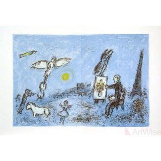 """Marc Chagall """"Le Peintre Et Son Double"""" 1981 Mourlot Lithograph"""