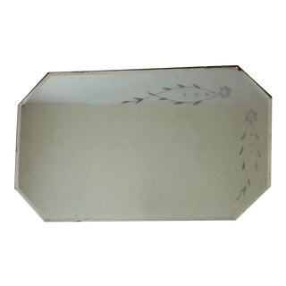 Etched Art Deco Octagon Beveled Mirror