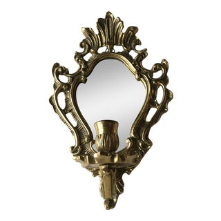 Baroque Mirror Gilt Candle Wall Sconce
