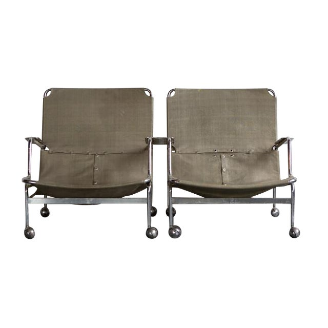 Bruno Mathsson 1960s Karin Rolling Chairs - A Pair - Image 1 of 7