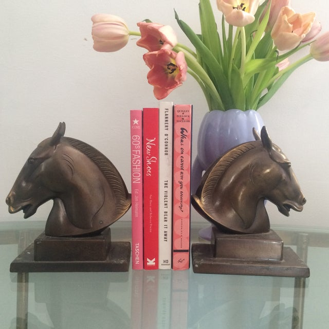 Brazen Horse Bookends - A Pair - Image 3 of 11