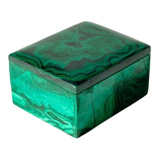 Small Malachite Pill Box