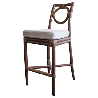 McGuire Thomas Pheasant Round Back Counter Stool