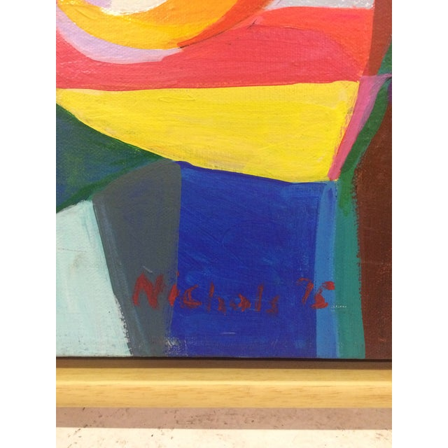 Cheerful Cubist Inspired Abstract Painting by Nich - Image 3 of 4