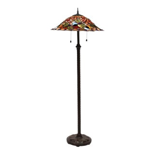 Tiffany Style Stained & Leaded Floor Lamp