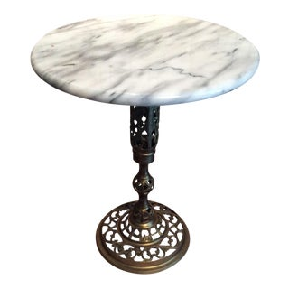 Hollywood Regency Marble Side Table