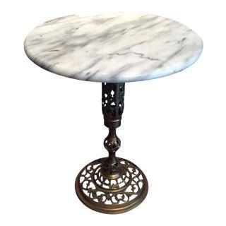 Hollywood Regency Marble Side Table