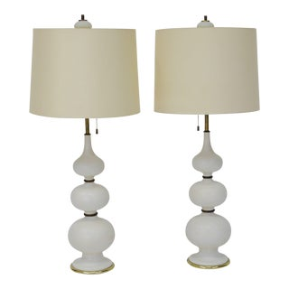 Gourd Form Ceramic Lamps by Gerald Thurston for Lightolier