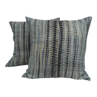 Tie-Dye Hand Woven Thai Linen Pillows - Pair