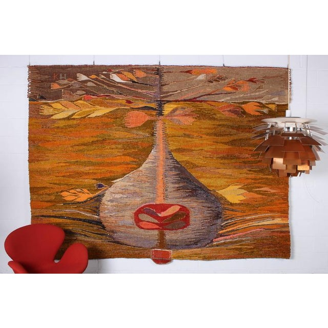 """Large Tapestry by Krystyna Wojtyna-Drouet Titled """"Fruit"""" - Image 10 of 10"""