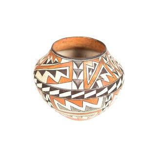 Antique Native American Polychrome Pottery Jar Acoma