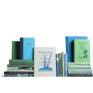 Blue & Green Nautical Library - S/19