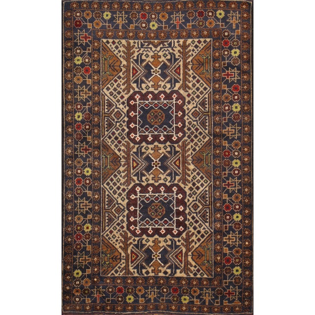 """Pasargad Balouch Collection Rug - 2'10"""" X 4'9"""" - Image 1 of 2"""