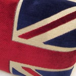 Image of British Flag Chenille Bolster Pillow