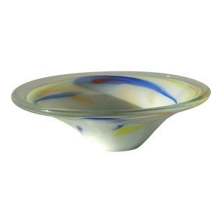 Murano Color Swirl Glass Bowl