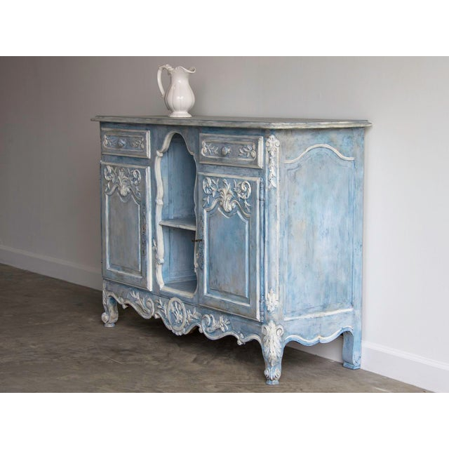Antique French Louis XV Style Painted Walnut Buffet circa 1900 - Image 3 of 7