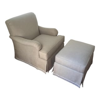 Classic Patricia Edwards Custom Chair & Ottoman Set