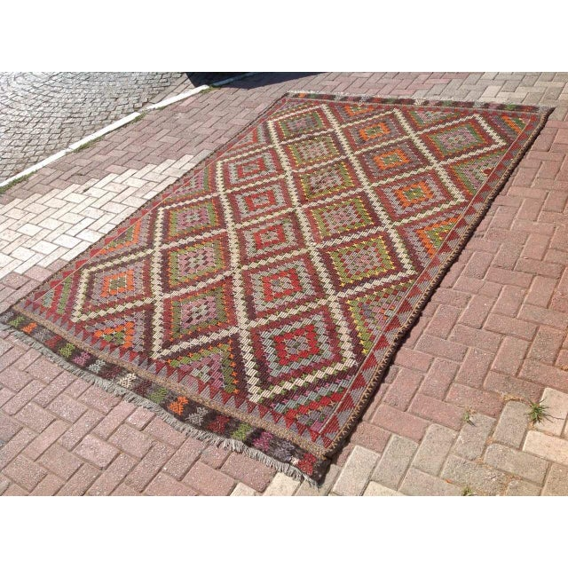 Vintage Turkish Kilim Rug - 6′9″ × 9′11″ - Image 3 of 6