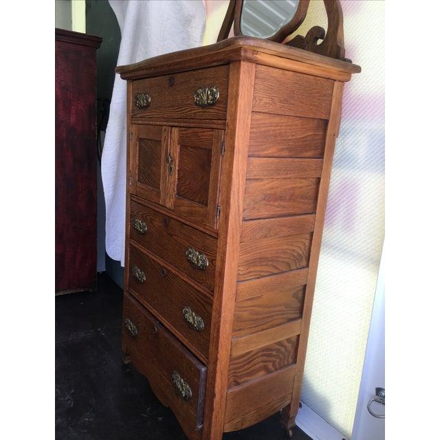Antique Oak Highboy - Image 5 of 11