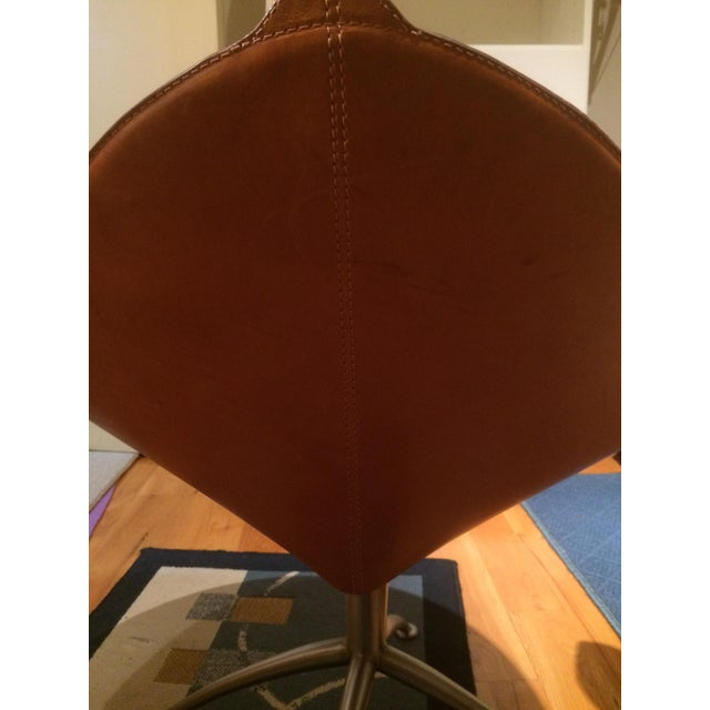 Contemporary Leather Fasem Chair - Image 4 of 8