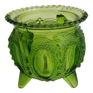 Green Glass Toothpick Holder