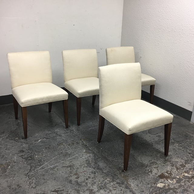 Room & Board Marie White Dining Chairs - Set of 4 - Image 3 of 8