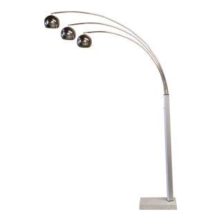 Sonneman Style Triple Arc Chrome Floor Lamp
