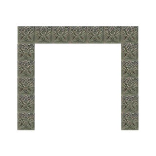 Gray Art Nouveau Daisy Fireplace Surround