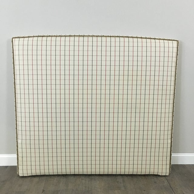 Plaid Nailhead Trim Queen Headboard - Image 2 of 8