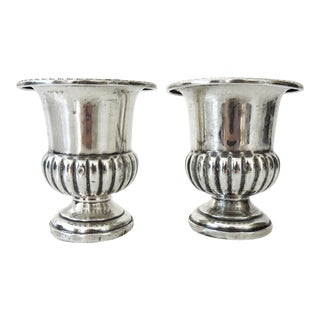 M.Fred Hirsch Sterling Silver Toothpick Holders/Candle Holders