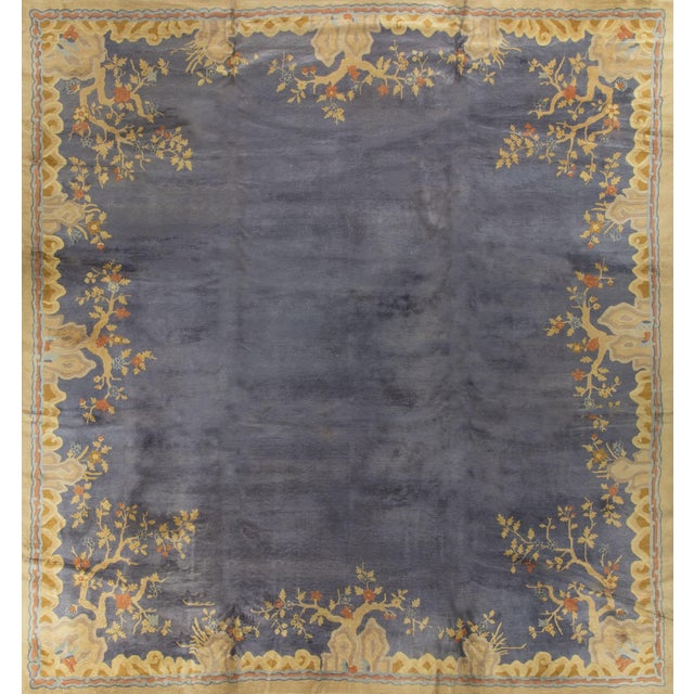 """Vintage Art Deco Chinese Rug - 13'7"""" X 14'3"""" - Image 1 of 4"""