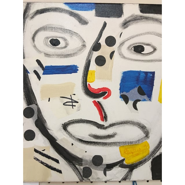"Phyllis Rinaldi ""II Primary Man"" Original Painting on Canvas - Image 6 of 6"