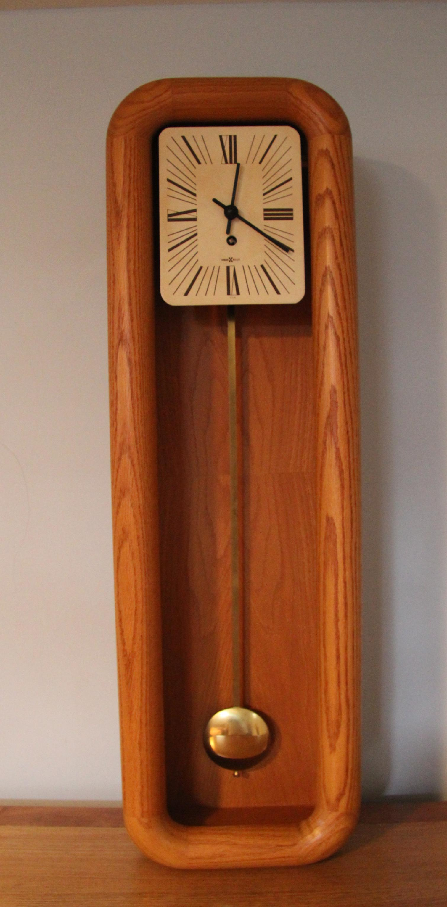 image of mantel grandfather clock by arthur umanoff for howard miller - Howard Miller Mantel Clock