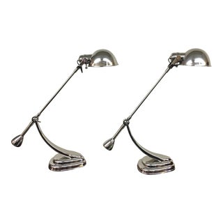 Ralph Lauren Chrome Table Lamps - A Pair