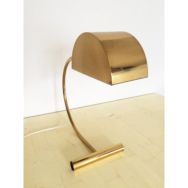Koch and Lowy Brass Demilune Table Lamp - Image 6 of 11