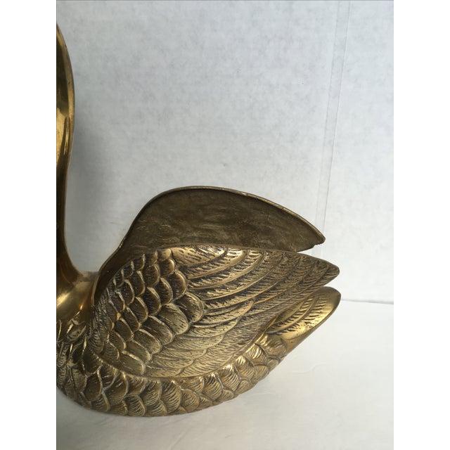 Image of Vintage Brass Swan Planter