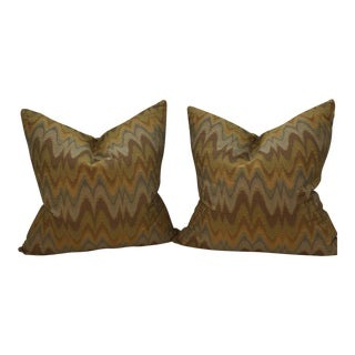 Bergamo Italian Fabric Pillows - A Pair