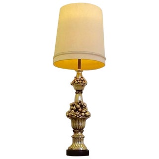 "Vintage 1940s Hollywood Regency 4'9"" Table Lamp"