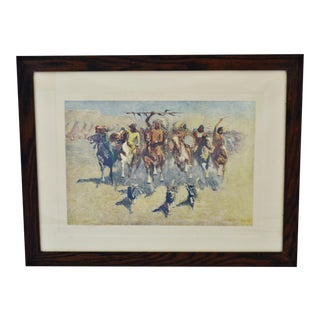 Antique 1907 Victory Dance by Frederic Remington Native American Indian Framed Print