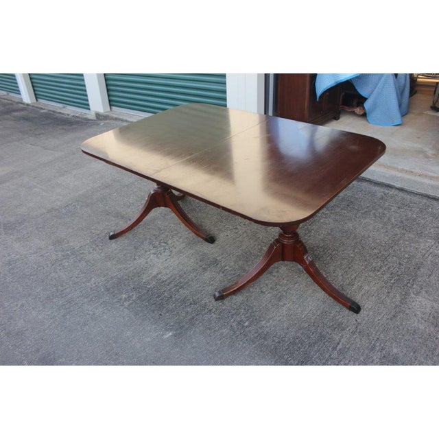 Mahogany Duncan-Phyfe Dining Table - Image 3 of 5