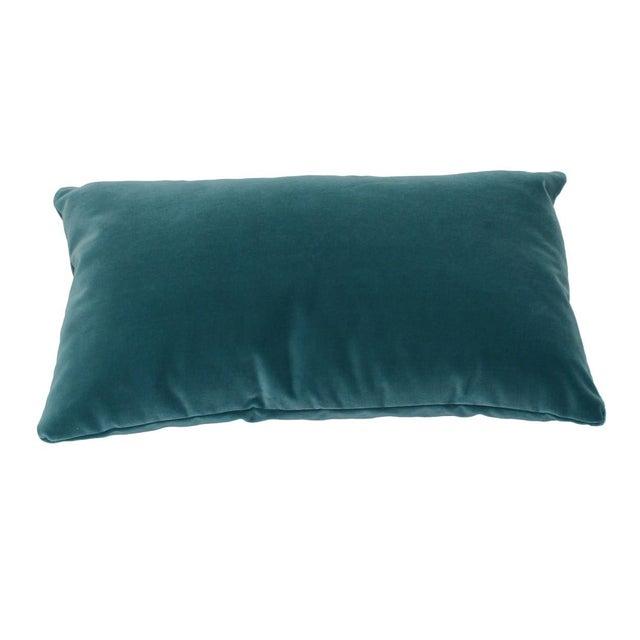 Teal Velvet Lumbar Pillow Chairish