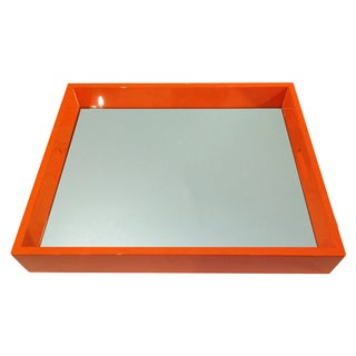Bungalow 5 Orange Lacquered Mirror Tray