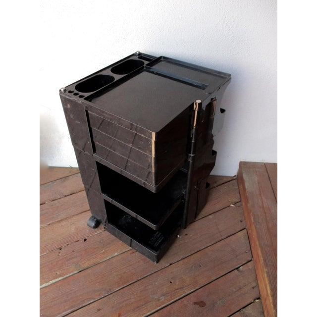 Taboret Mid-Century Modern Black Cart - Image 2 of 10