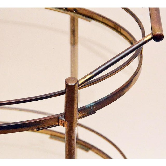 Image of Maxwell Phillips Brass Two-Tier Tea Cart