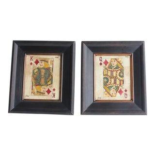 Folk Art Queen & King Game Cards Oil Paintings by Julius